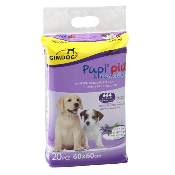 Tappetini Igienici Per Cani Pupi Più Al Profumo Di Lavanda 60x60 Cm