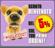 Sconto benvenuto 5% Alimenti Animali OnLine