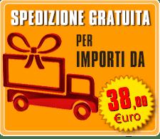 Spedizione gratuita con una spesa di € 59,00