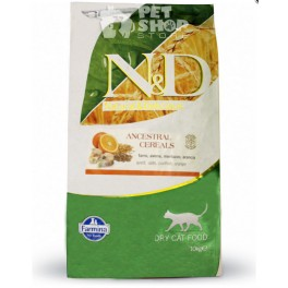 Farmina N&D Low Grain Feline adult 10 kg Merluzzo e Arancia
