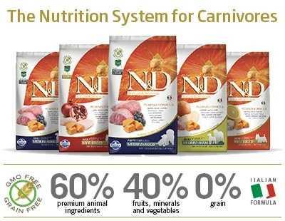 Le crocchette Farmina N&D Grain Free alla Zucca: la formulazione