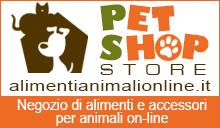 Gli alimenti Pet Shop Store alimentianimalionline.it qualità selezionata