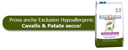 Prova anche le crocchette Exclusion Hypoallergenic Cavallo & Patate
