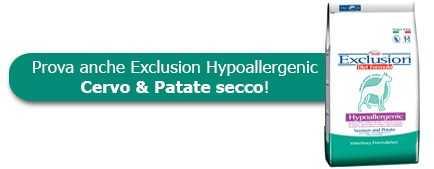 Prova anche le crocchette Exclusion Hypoallergenic Cervo & Patate