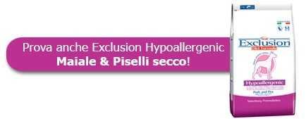 Prova anche le crocchette Exclusion Hypoallergenic Maiale & Piselli