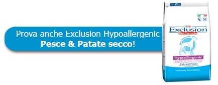 Prova anche le crocchette Exclusion Hypoallergenic Pesce & Patate