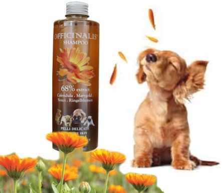 Shampoo Calendula per cani dalla pelle delicata