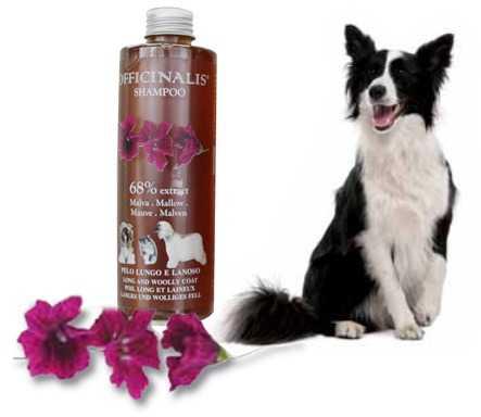 Shampoo Malva per cani dal pelo lungo e/o lanoso