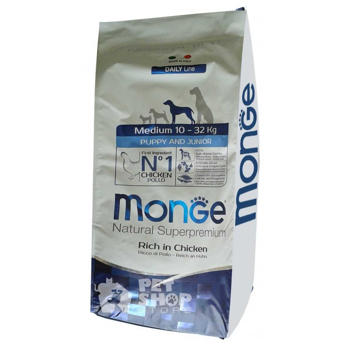 Monge Medium Puppy & Junior 12 kg