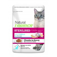 Feline Natural Trainer umido Sterilised Merluzzo busta 85 gr