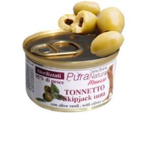 Alimenti umidi per gatti Tonnetto con Olive verdi 85 gr Dalla Grana
