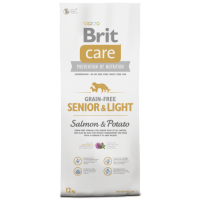 Crocchette Brit Care Senior & Light Grain Free Salmone 12 Kg (GRATIS SPEDIZIONE)