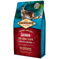 Carnilove Cat Salmone Adult Sensitive & Long Hair 6 Kg (GRATIS SPEDIZIONE)