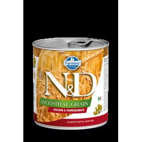 Farmina cibo umido cane N&D Ancestral Grain Pollo & Melograno 285 gr