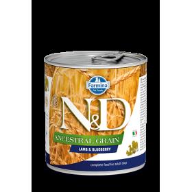 Farmina cibo umido cane N&D Ancestral Grain Agnello & Mirtillo 285 gr