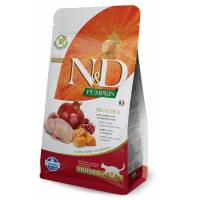 Farmina N&D Grain Free Feline Adult Zucca Neutered Quaglia e Melograno 5 kg