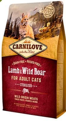 Carnilove Cat Agnello & Cinghiale Adult – Sterilised
