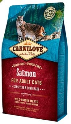 Carnilove Cat Salmone Adult Sensitive & Long Hair