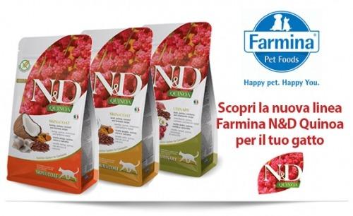 La nuova linea Farmina N&D Quinoa per gatti, gusto e salute