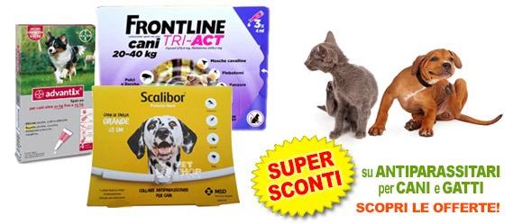 Antiparassitari cani e gatti in offerta