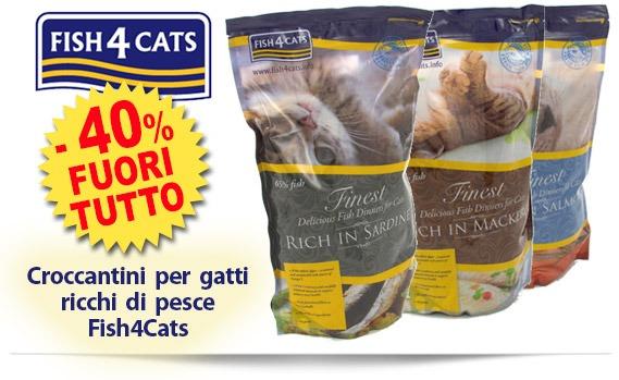 FUORI TUTTO sui croccantini per gatti Fish4Cats sconto 40%