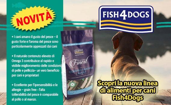 Novità Fish4Dogs crocchette senza cereali per cani