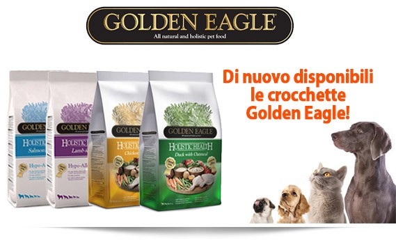 Di nuovo disponibili le crocchette Golden Eagle