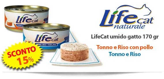 LifeCat cibo umido per gatti in offerta - sconto 15%