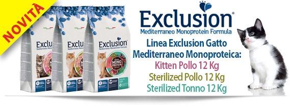 Novità: linea Exclusion Mediterraneo Gatto Monoproteica