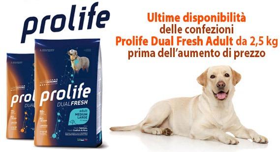 offerta SCONTO 15% sulle confezioni Prolife Dual Fresh 2,5 kg ultime disponibilità