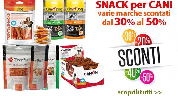 snack per cani varie marche scontati dal 30% al 50%