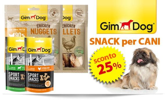 snack per cani Gimdog sconto 25%