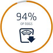 Riduzione di peso in 2 mesi nel 94% dei cani - Crocchette cane Affinity Advance Veterinary Diets Weight Balance