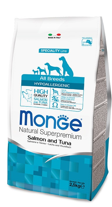 Monge All Breeds Hypoallergenic Salmone e Tonno