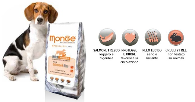Monge SuperPremium All Breeds Salmone e Riso