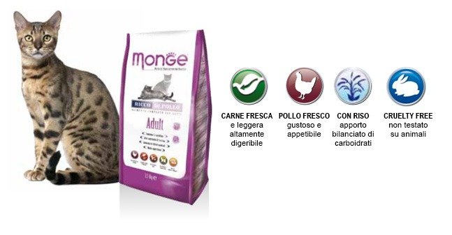 Monge SuperPremium Gatto Adult Pollo & Riso