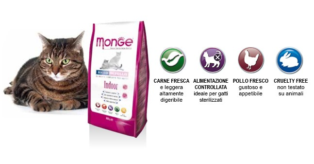 Monge SuperPremium Gatto Indoor Pollo & Riso