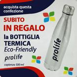 Con l'acquisto di una confezione Prolife Dual Fresh subito in regalo la bottiglia Eco-Friendly Prolife 500 ml
