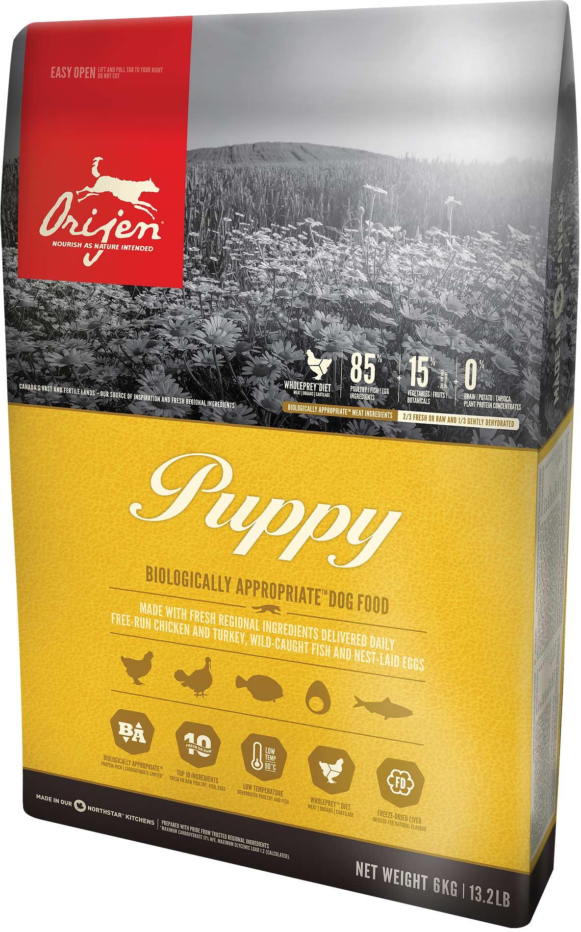 crocchette Orijen Puppy Medium per cuccioli