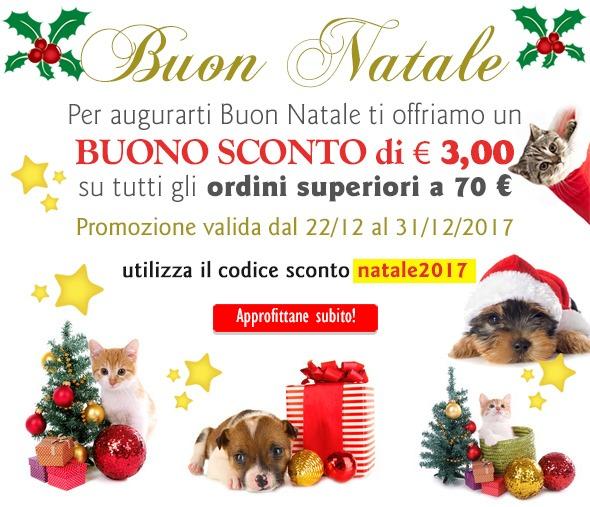 Offerta Natale 2017 - Sconto e 3,00 per ordini superiori a 70,00 €