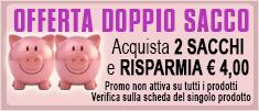 offerta doppio sacco - acquista 2 sacchi e risparmia € 4,00