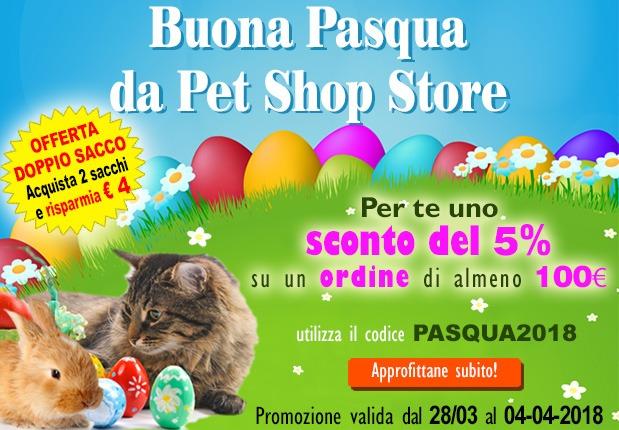 offerta Pasqua 2018 - Sconto 5% per un acquisto di almeno 100 euro - usa il codice sconto PASQUA2018