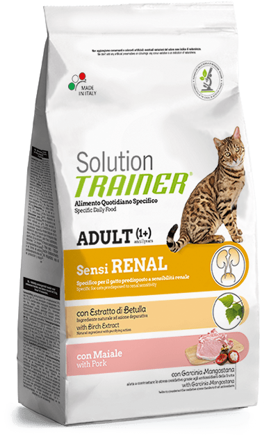 Trainer Solution Sensirenal, alimentazione gatto insufficienza renale