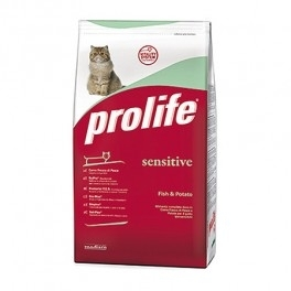 Offerta Prolife Cat Sensitive 1,5 kg Pesce e Patate