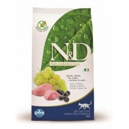 Offerta Farmina N&D Grain Free Feline Adult Agnello e Mirtillo 1,5 kg