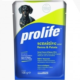 Prolife Sensitive Mini Coniglio & Patate Maiale & Patate Renna & Patate