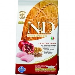 Sconto 20% su Farmina N&D Low Grain Feline Adult Pollo E Melograno Neutered