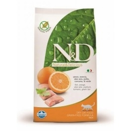 Offerta Farmina N&D Low Grain e Grain Free Feline Adult Merluzzo e Arancia 1,5 kg