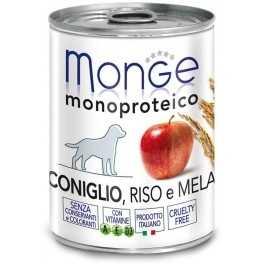 Specifiche sugli alimenti umidi Monge per cani