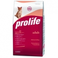 Crocchette gatto scontate Prolife Cat Adult Salmone & Riso 1,5 Kg